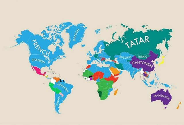 World Map Labeled Countries