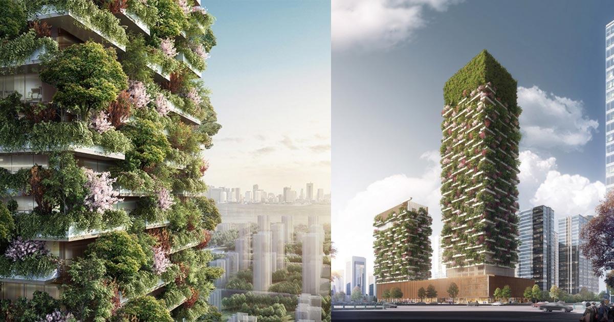 A nanchino sorger il primo bosco verticale dell asia for Bosco verticale architetto