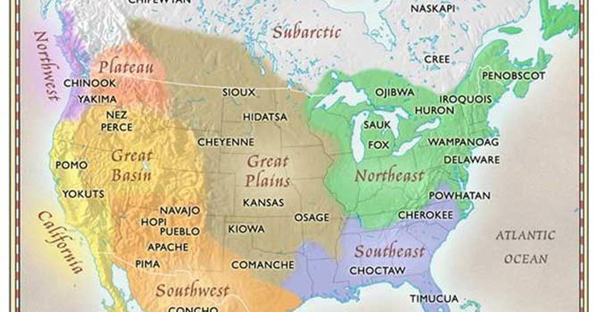 Perché La Mappa Delle Tribù Dei Nativi Americani Non Si Trova Sui