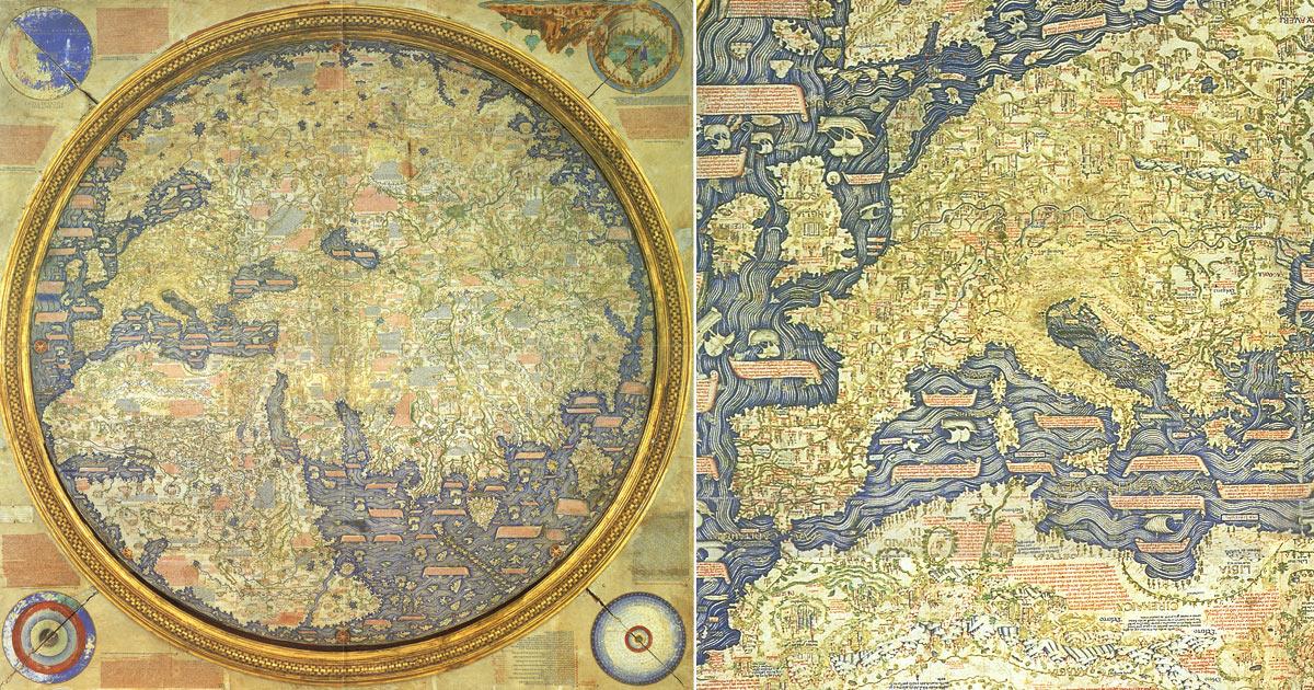 Il Mappamondo Medievale Di Fra Mauro Fu Fra I Planisferi Più