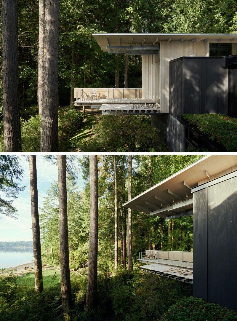La splendida villa immersa nella natura nata da un cottage for Costruire un cottage