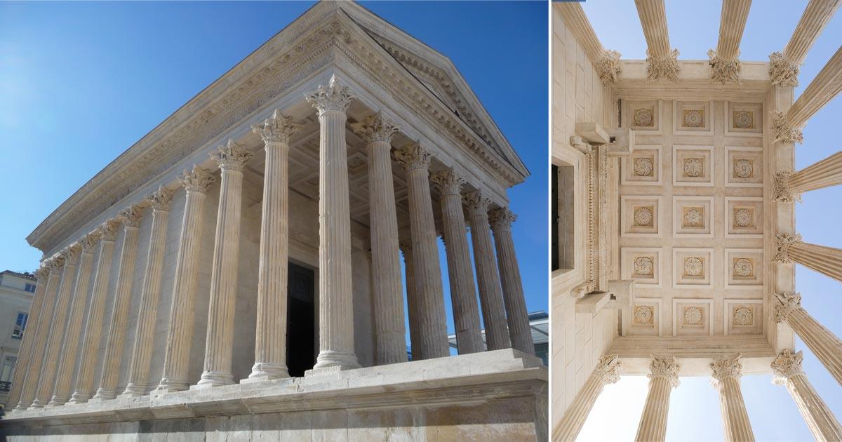 La maison carr e a n mes uno dei templi romani meglio for Ma maison nimes