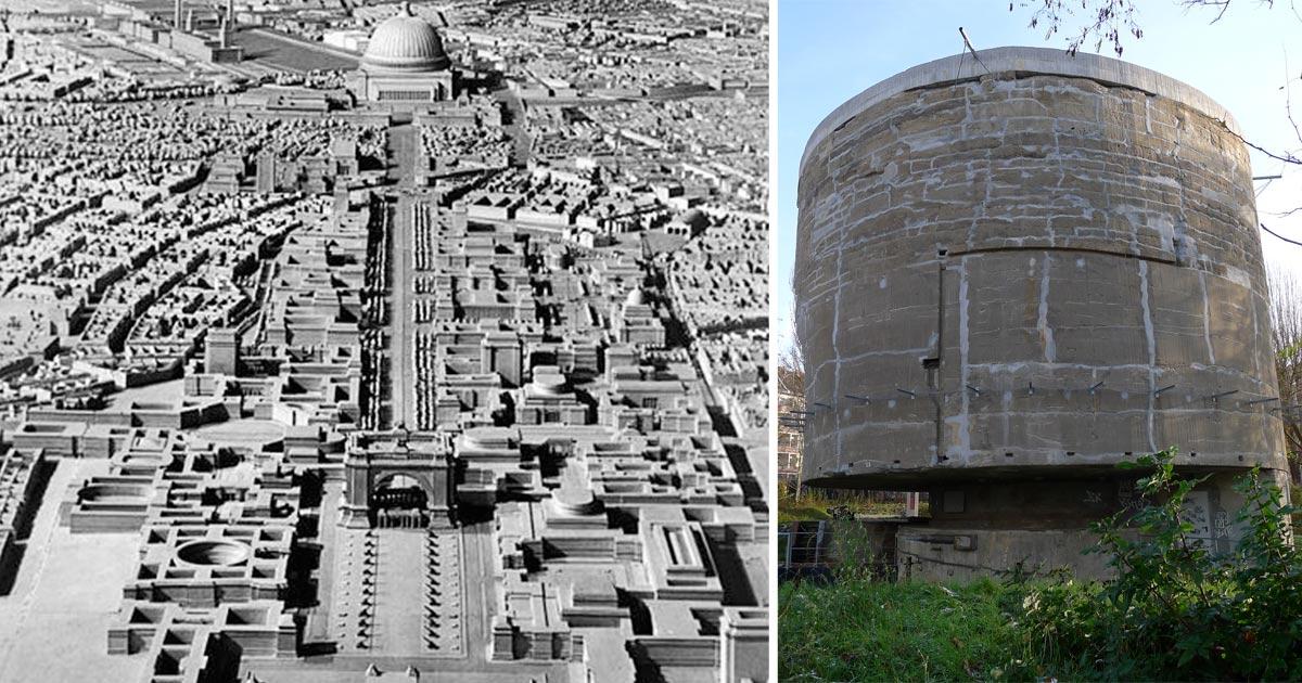 i faraonici piani architettonici di hitler si scontrarono