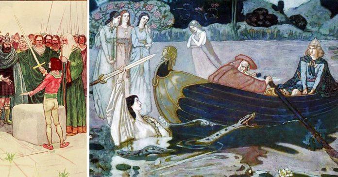 Re art trov excalibur nella roccia o la ricevette dalla dama del lago creativit - La tavola rotonda di re artu ...