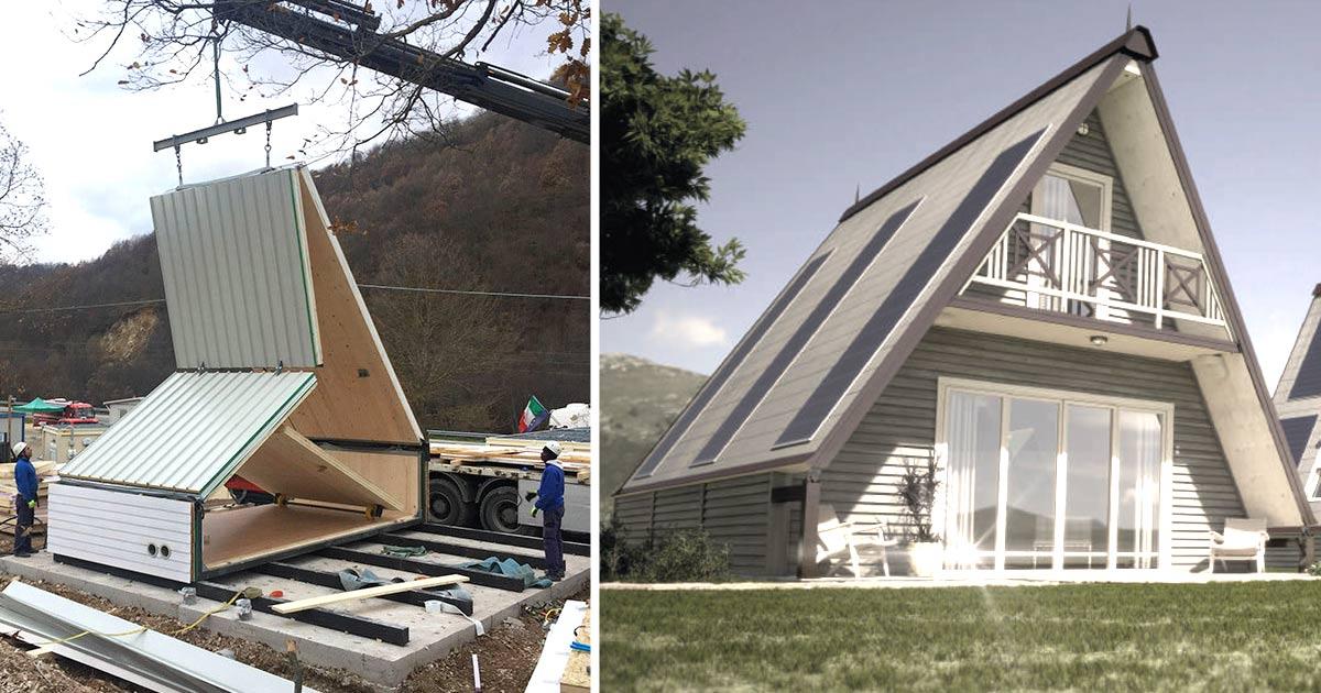 E italiana la casa pieghevole che si monta in sole 6 ore for Casa per la costruzione