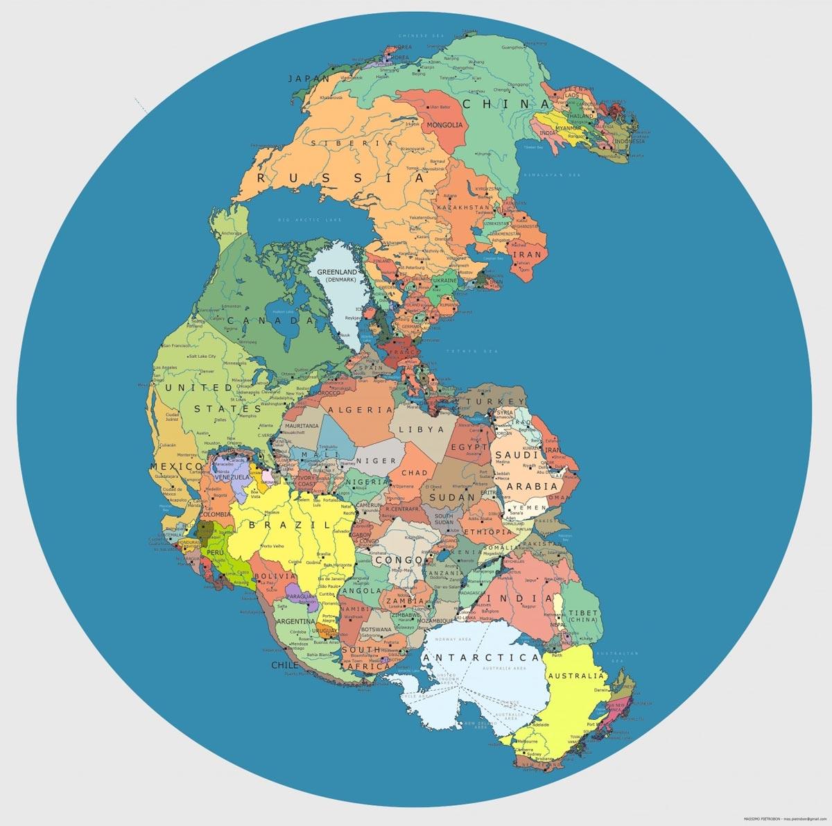 Cartina Russia Politica In Italiano.Una Mappa Mostra La Posizione Degli Stati Nazionali Nel