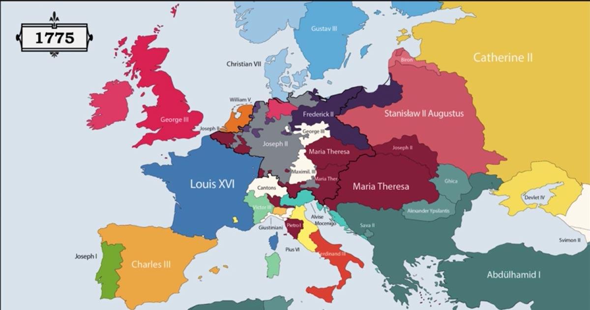 Cartina Geografica Nord Europa.Una Video Mappa Mostra Sovrani E Confini D Europa Dal 400 A C A Oggi Vanilla Magazine