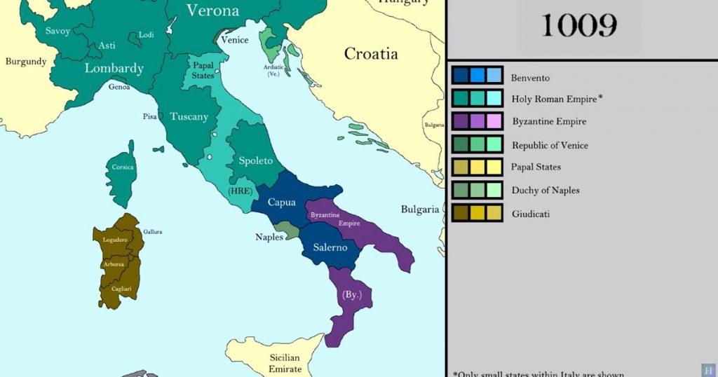 Cartina Italia Occidentale.Una Video Mappa Mostra I Confini Dell Italia Dal 477 A Oggi Vanilla Magazine