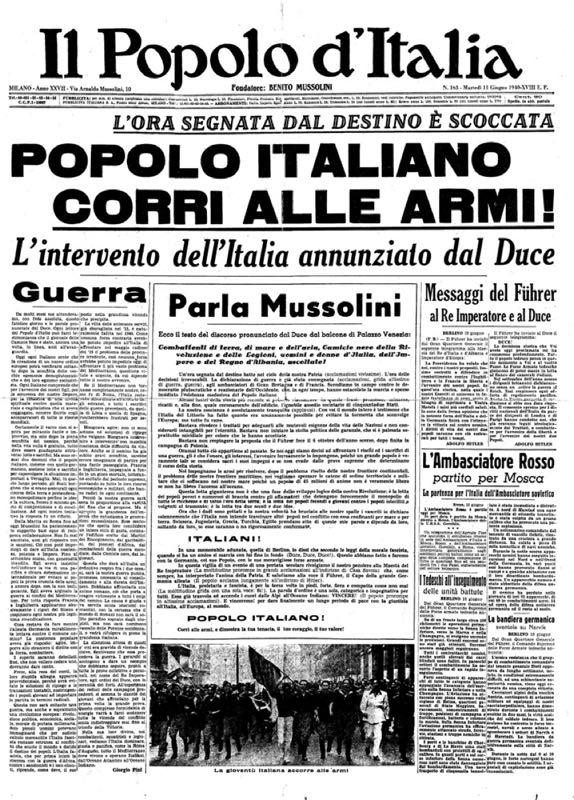 10 Giugno 1940 80 Anni Fa L Italia Entrava In Guerra Vanilla Magazine